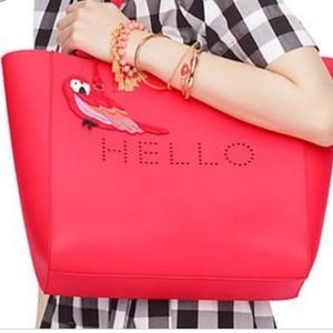 NWOT Kate Spade Hello Hallie Parrot Tote